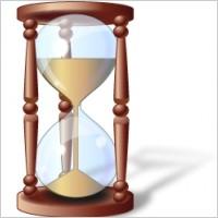 古代时间漏斗计时器矢量图素材