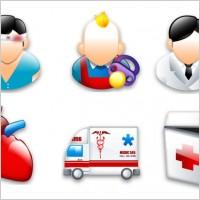 救护车急诊箱图标矢量图