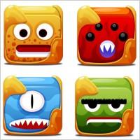 可爱表情设计ico图标素材