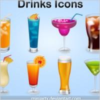 酒吧饮料酒杯矢量图素材