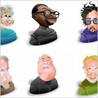 黑人白人漫画搞怪头像ico图标