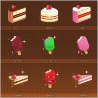 美味水果雪糕冰激凌棒棒糖矢量图素材