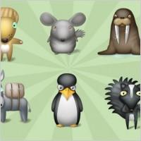 灰色世界动物大全图片ico图标素材