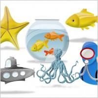 海底世界动物大全图片素材