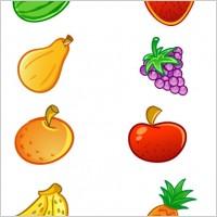 香蕉葡萄西瓜荔枝菠萝水果ico图标素材