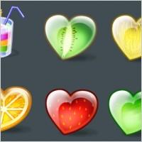 精美爱心水果ico图标素材