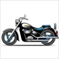 黑色摩托车赛车png图片素材矢量图