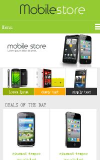 手机购物网站html5css3 mobile网页模板源码下载