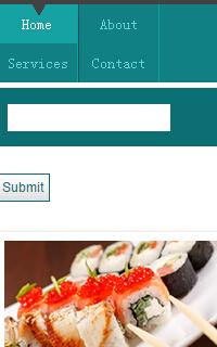 食品点心手机html静态网页WordPress模板源码下载