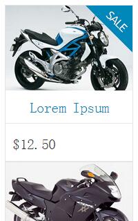 手机摩托车车展html静态网页模板源码下载
