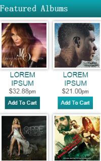 mobile音乐列表网站html5静态模板源码