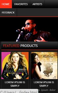 歌手专辑图片响应式手机css3静态网页模板源码