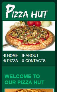 绿色风格美味食品图片分享手机mobile静态源码下载