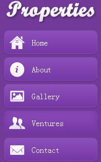 紫色手机mobile企业网站静态网页模板源码