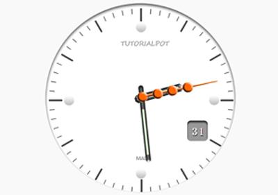 用css3绘制时钟的web前端网页特效代码下载