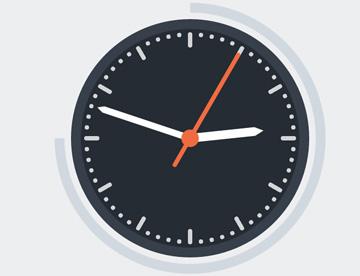 网页css3样式动画时钟展示特效插件代码