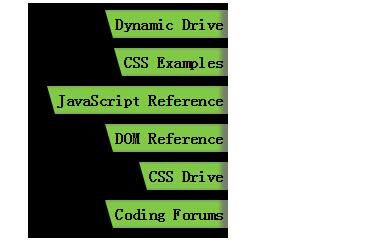 鼠标悬浮时文字向左移动的纵向菜单栏html5css3样式代码