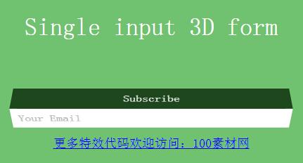 网页input文本框搜索控件正面旋转效果的css3样式代码