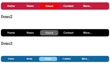 网站面包屑导航条菜单css3样式动画特效代码