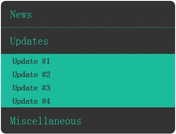 css3圆角二级导航菜单jQuery滑动收缩展开特效代码