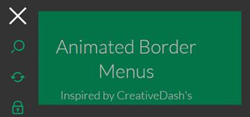 网页动画边框菜单html5css3特效代码下载