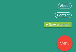 鼠标点击按钮弹窗遮罩图层并显示css3圆角菜单栏的网页特效代码