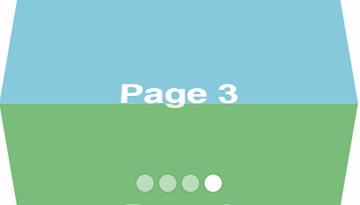 网页全屏3d立体旋转切换css3特效代码
