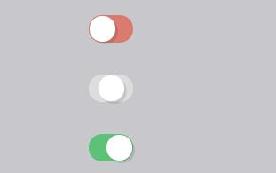 html5css3仿app原生开关按钮动画效果插件代码