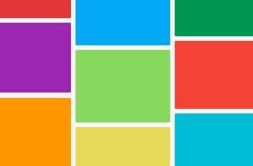 div图层高度自适应布局的瀑布流效果网页样式代码