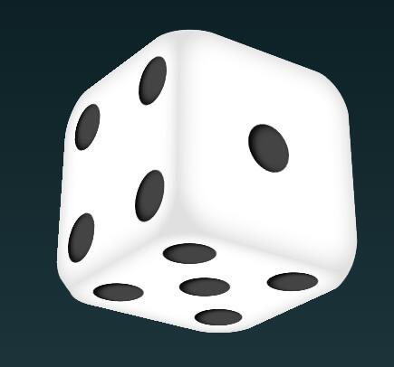 css3代码实现骰子动画旋转特效