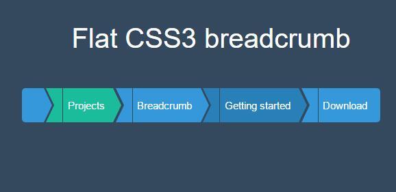 html5 css3面包屑导航菜单样式代码