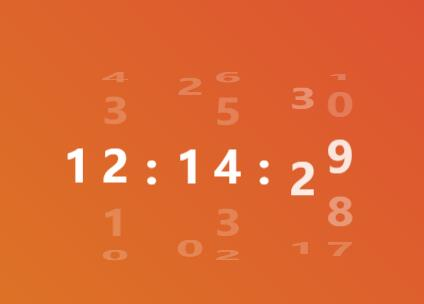 jquery css3网页时间分秒上下滑动切换特效