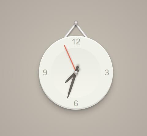 html5吊挂于墙上风格的jquery时钟代码