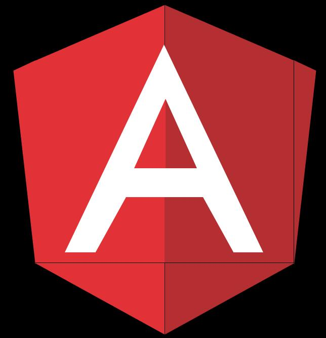 html5css3代码绘制angular logo图标特效
