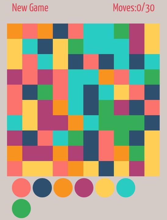 html div颜色匹配计时小游戏代码