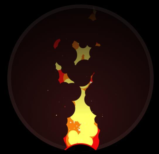 html5 canvas绘制火焰javascript特效代码