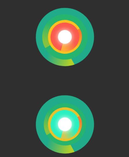css3圆形背景颜色渐变切换旋转样式代码
