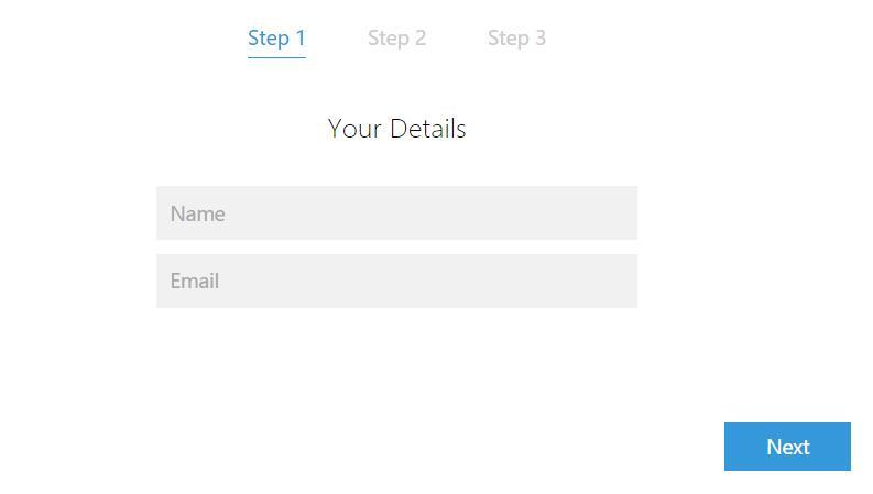 html5 css3分步注册切换的form表单样式代码