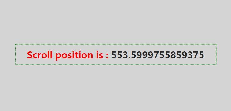 获取网页滚动条高度值的JavaScript特效代码