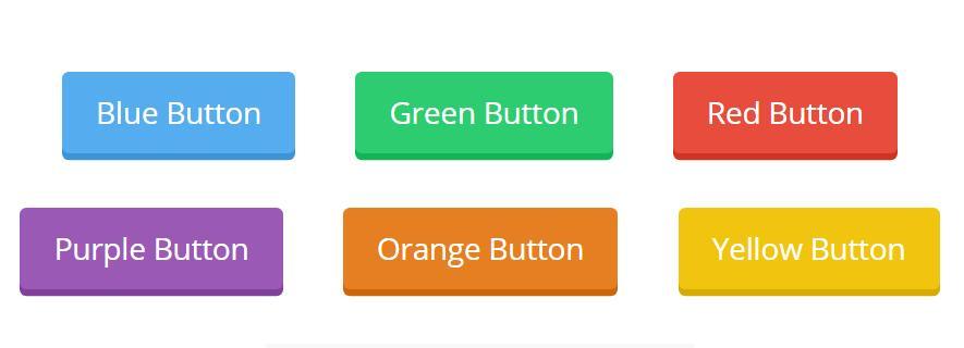 css3圆角3d阴影button按钮html网页样式代码