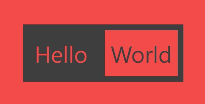 div css绘制Hello World静态网页样式代码