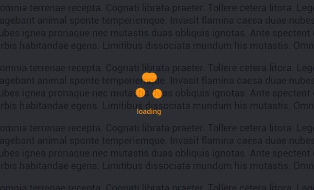 html5 css3遮罩图层loading动画网页样式代码