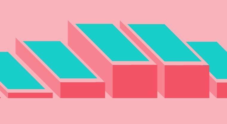 html5css3绘制3d矩形阶梯动画效果网页特效代码