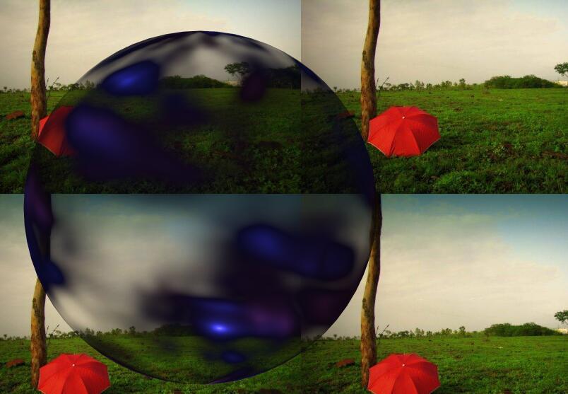 html5 canvas绘制透明圆形的魔法水晶球动画javascript特效代码