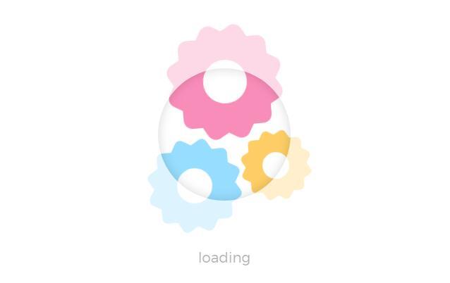 css3齿轮网页loading加载效果的html代码