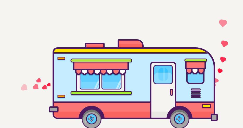 绘制公交车在街道行驶动画效果的html5css3网页特效代码