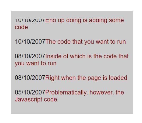 鼠标悬浮于文字文字停止向上滚动的javascript特效代码