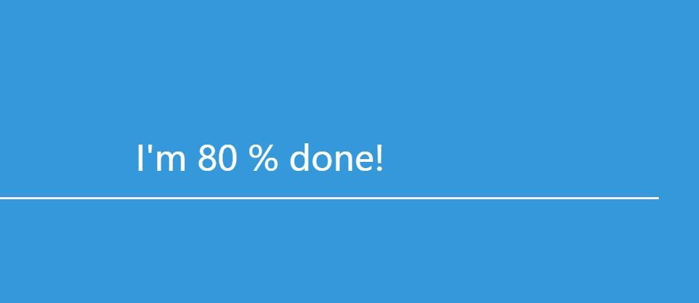 Vue.js页面预加载器百分比进度条动画特效网页代码