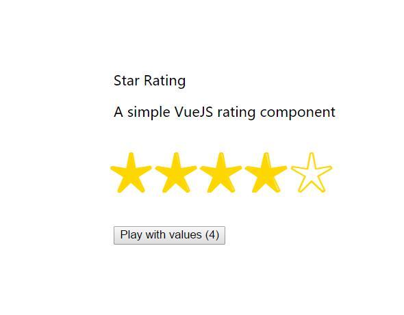 Vue.js星级随机评分特效站长网页素材代码