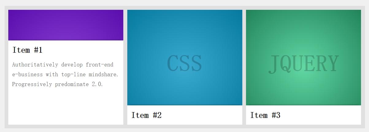 鼠标悬浮于图片时从下向上滑动弹出文字描述图层css3动画代码